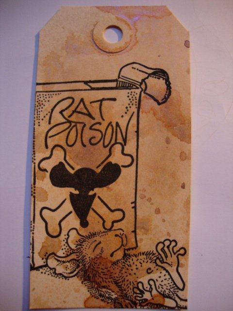 Rat Poison Victim 3 3/4 x 3 3/4-39113