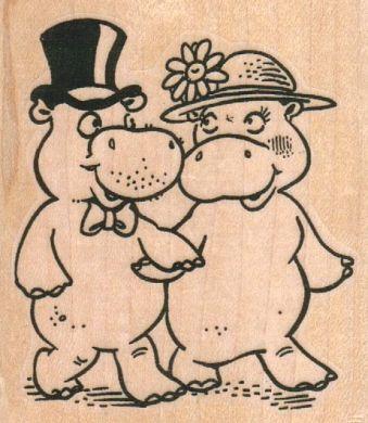 Mr. & Mrs. Hippo Strolling 2 1/2 x 2 3/4-0