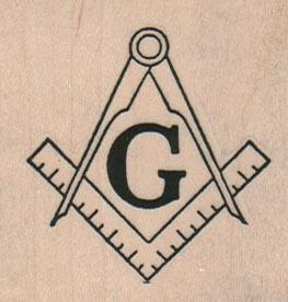 Masonic Symbol 2 x 2-0