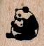 Pandas Hugging 3/4 x 3/4-0