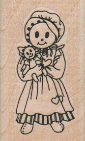Girl With Doll 1 1/4 x 2-0