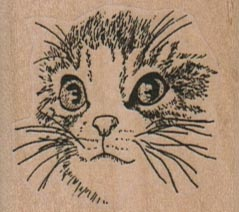Cat Face/Medium 1 3/4 x 1 1/2-0