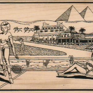 Tennis By The Pyramids 4 1/4 x 5 1/4-0