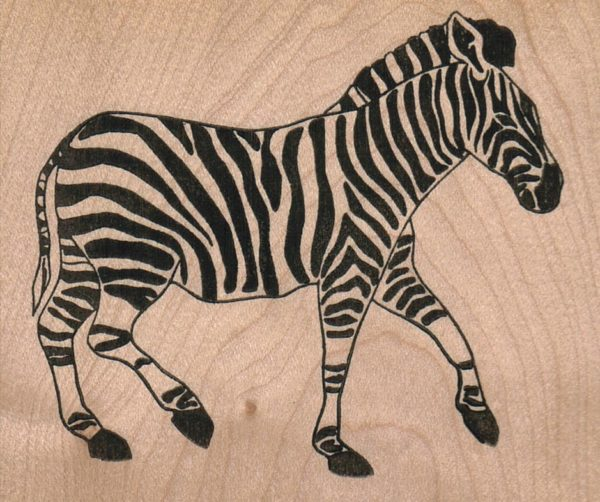 Zebra Walking 3 1/4 x 2 3/4-0