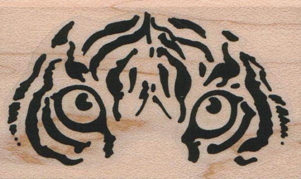 Stylized Tiger Eyes 1 1/2 x 2 1/4-0