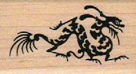 Stylized Dragon Sm B&W 1 1/4 x 2-0