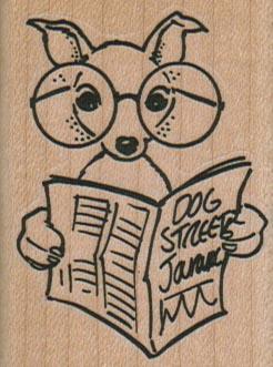 Dog Reading Dog Street 1 3/4 x 2 1/4-0