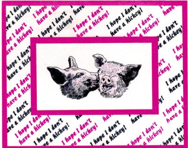 Kissing Pigs 3 x 1 3/4-42852