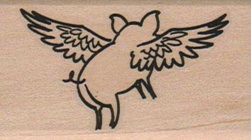 Flying Pig Side View 1 1/2 x 2 1/4-0