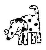 Spotted Dog With Bone 1 1/2 x 1 3/4-0