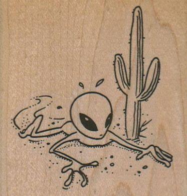 Alien In Desert 2 3/4 x 2 3/4-0