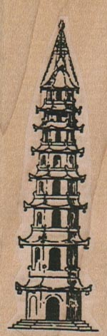Asian Temple (Tall) 1 1/4 x 3 1/4-0