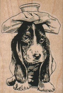 Sick Basset Hound Dog 1 3/4 x 2 1/2-0