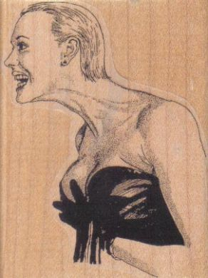 Long Necked Woman 2 1/4 x 2 3/4-0