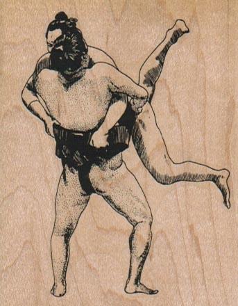 Sumo Wrestlers 2 1/2 x 3-0