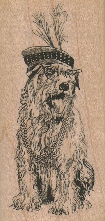 Soft Coated Wheaton Terrier Dog 1 1/2 x 3-0