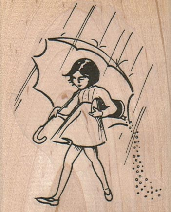 Umbrella Girl 2 1/2 x 3-0