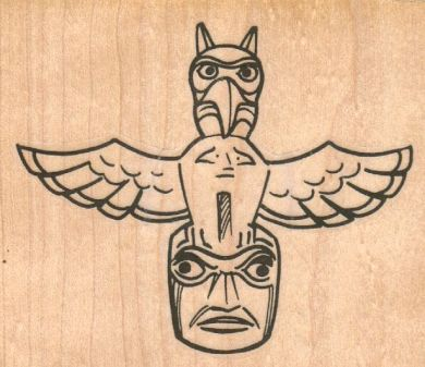 Owl Totem 3 1/4 x 2 3/4-0