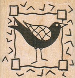 Bird In Frame 1 3/4 x 1 3/4-0