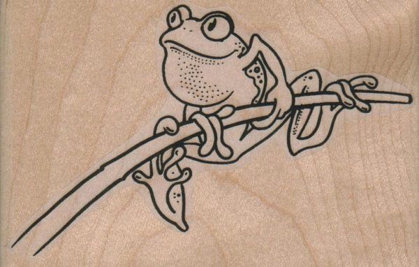 Frog On Branch 3 1/2 x 2 1/4-0