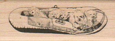 Bichons In Boat 1 1/4 x 3 1/4-0