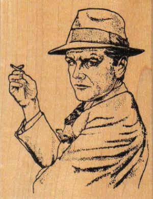 Smoking Man 2 1/4 x 2 3/4-0