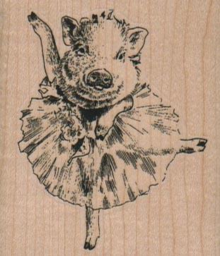 Pig In Tutu 2 1/4 x 2 1/2-0