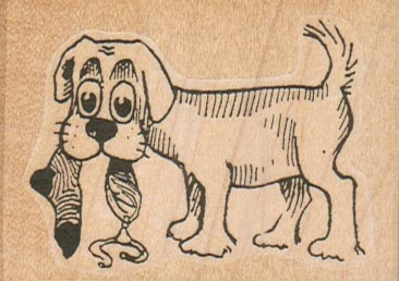 Dog With Sock 2 1/2 x 1 3/4-0