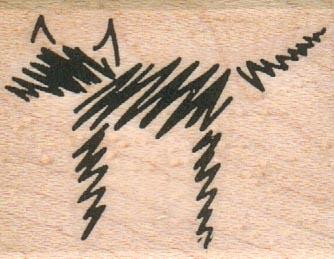 Sketch Dog 1 1/2 x 1 3/4-0