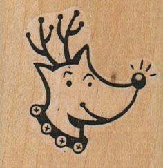 Rudolph Reindeer 1 3/4 x 1 3/4-0