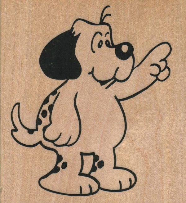 Dog Pointing 3 1/4 x 3 1/2-0
