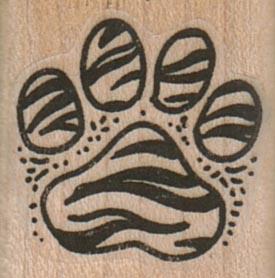 Tiger Stripe PawPrint 1 x 1-0