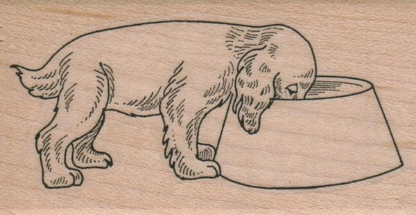 Dog And Dish 1 3/4 x 3-0