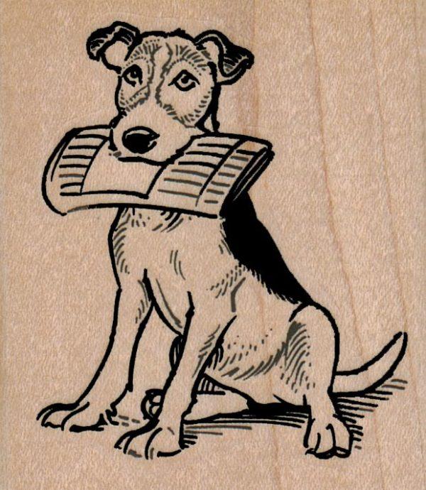 Dog Delivering Paper 2 1/4 x 2 1/2-0