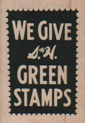 We Give S & H Green Stamps 1 1/4 x 1 3/4-0