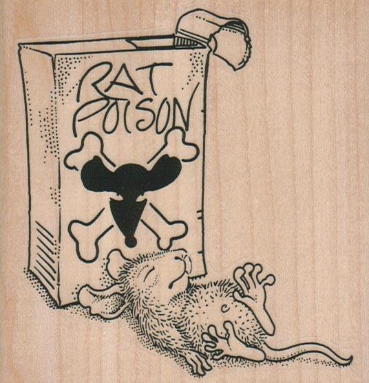 Rat Poison Victim 3 3/4 x 3 3/4-0