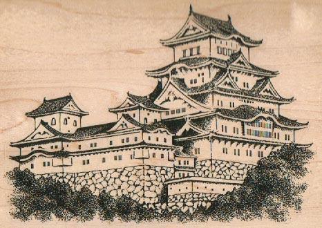 Pagoda/Bushes 3 1/2 x 4 3/4-0