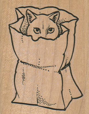 Cat In Bag 2 1/4 x 2 3/4-0