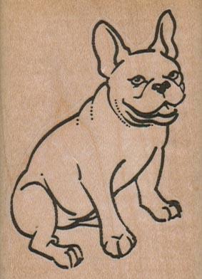 French BullDog Sitting 2 x 2 3/4-0