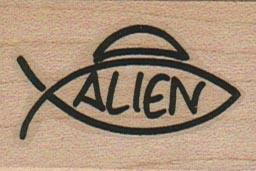 Alien Symbol 1 1/4 x 1 3/4-0