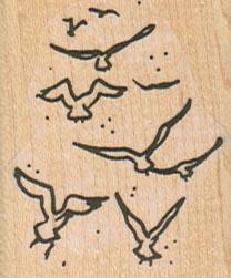 Flock Of Birds 1 1/2 x 1 3/4-0