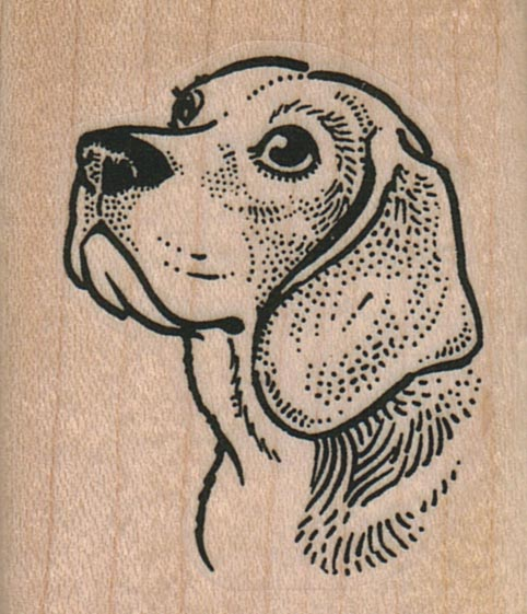 Beagle Dog Head 1 3/4 x 2-0