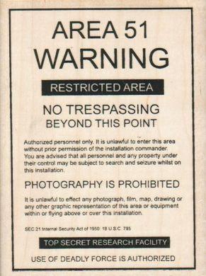 Area 51 Warning 3 1/4 x 4 1/4-0