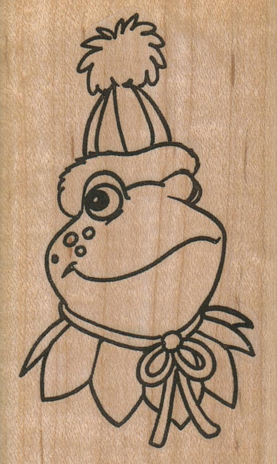 Frog In Party Hat 2 x 3 1/4-0