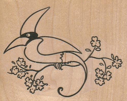 Bird Of Paradise On Branch 3 1/2 x 2 3/4-0