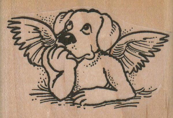 Dog Angel 2 1/2 x 1 3/4-0