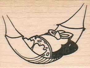 Penguin in Hammock 1 3/4 x 2-0