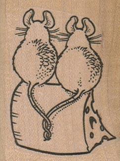 Mice On Cheese 1 3/4 x 2 1/4-0