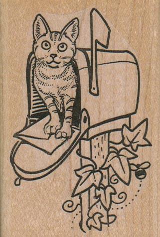 Kitty In MailBox 2 1/4 x 3 1/4-0