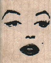 Lady's Face 1 1/4 x 1 1/2-0
